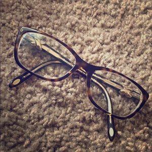 Tiffany & Co tortoise frames gold ribbon TF2074